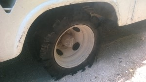 Our tire after the blowout.