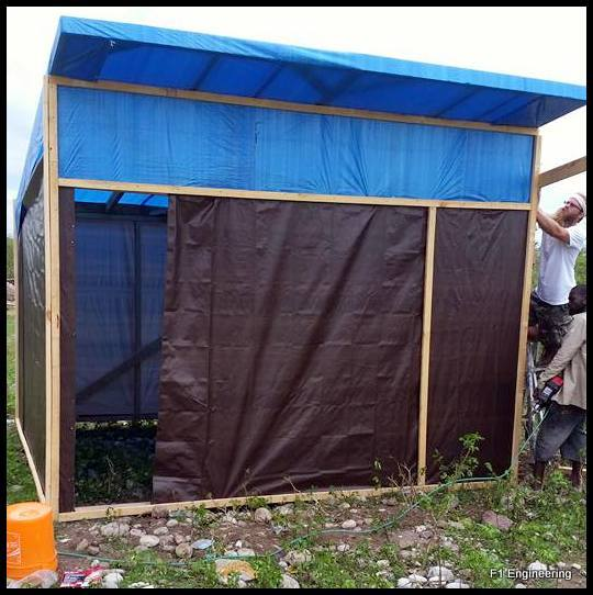 Temporary Tarp House